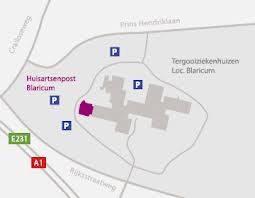 Plattegrond Tergooi Ziekenhuizen en Huisartsenpost Blaricum