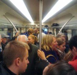 Drukte in de trein