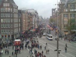 Amsterdam Damplein drukte