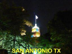 San Antonio TX toren bij nacht