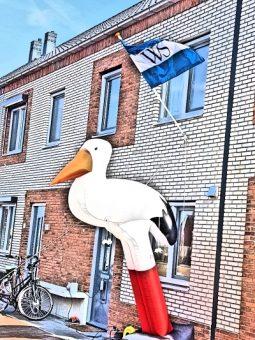 Ooievaar in Weesp steunt verloskundige huisarts