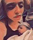 Pasgeboren Nomi in OLVG na bevalling olv Hans Burggraaff verloskundige huisarts Weesp